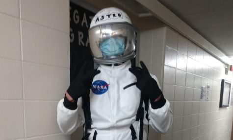 Astro the astronaut bounces around campus at 6 p.m. on weekends bringing candy and the Halloween spirit to UW-Whitewater.