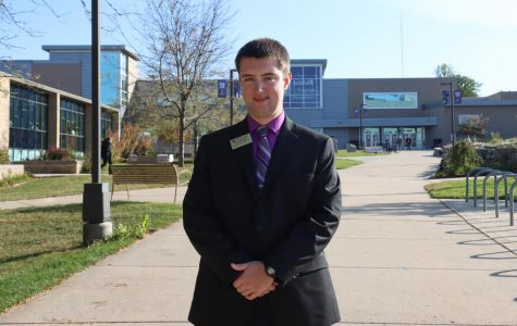 Director of Academic Affairs for Whitewater Student Government Justin Wesolek, is the supervisor of the Warhawks Helping Warhawks volunteer program. - Dane Sheehan