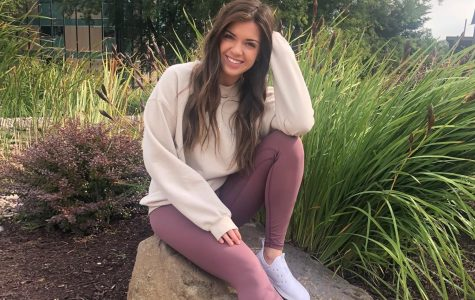 """""""My favorite memory at UW-W was coming to study and eat lunch by the fountain with friends. We did it every Tuesday and Thursday. It was always so pretty and peaceful to be out there, which made studying a lot less stressful."""" -Kara Bennett, UW-Whitewater Alum"""