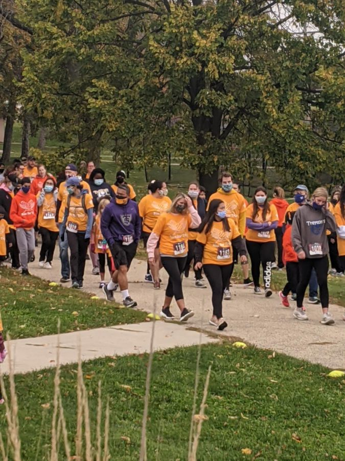 The+10+annual+Run+for+Trey+brought+over+300+community+members+together+for+a+5K+fun+run+Sunday%2C+Oct.+11.+