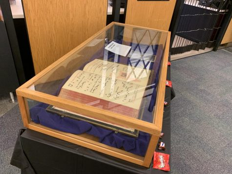 The Andersen Library displays its haunted book for visitors over the Halloween holiday.
