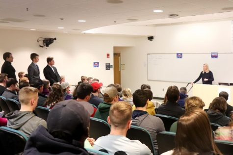 Photo submitted from UW-W College Republicans  from March 10th, 2020 when UW-W College Republicans hosted Elisha Krauss of The Daily Wire for a guest lecture