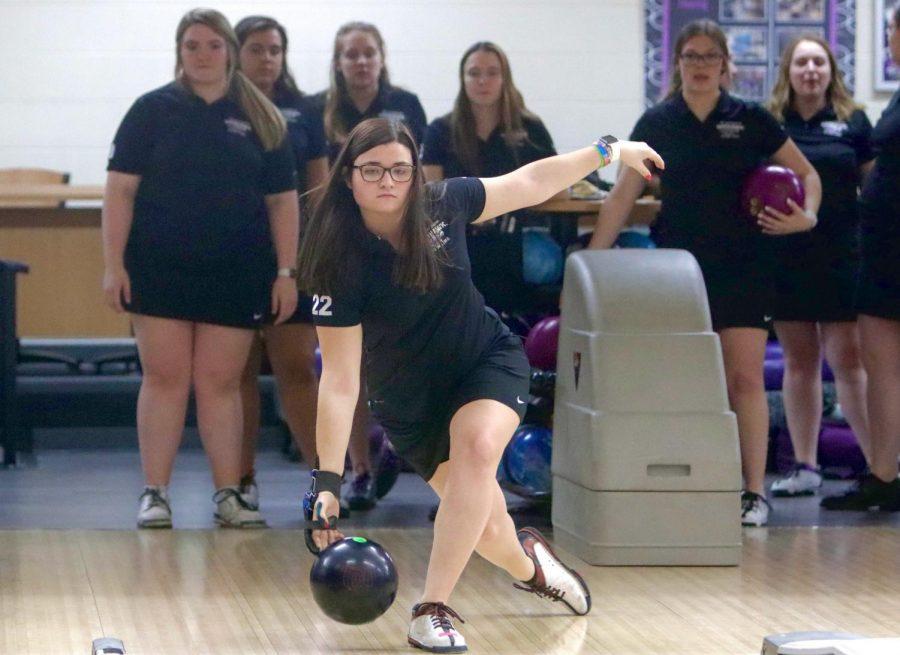Peyton Attig bowling