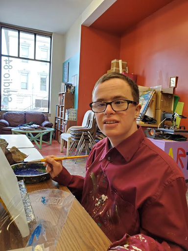 Nathan Kehoe balances his life with a full-time job, bowling and painting for the studio.