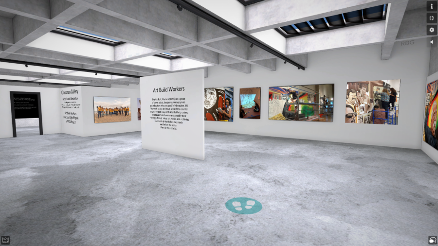 A close look of the Crossman Art Row Gallery's virtual exhibit.