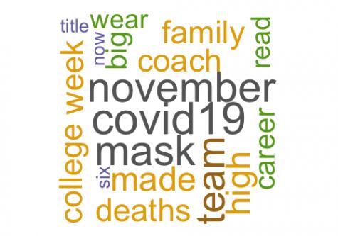 Word cloud of words used
