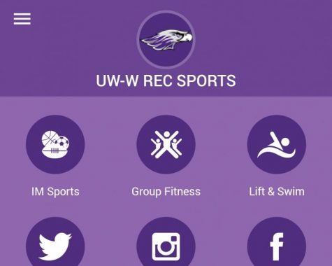 Screenshot of the new Sports Rec App taken from a smartphone.