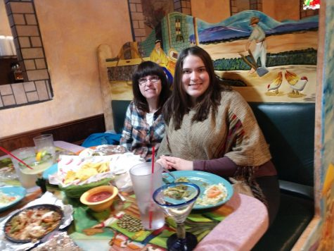 Kris and Nicole Holder enjoy their meal at Cozumel Mexican Restaurant Wednesday, Feb. 24.