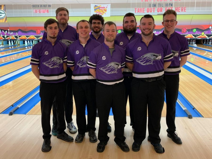The University of Wisconsin-Whitewater men's bowling club varsity team after winning the Sabre Shootout in Fond du Lac, WI. on Sunday Jan. 24.
