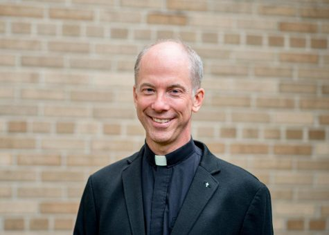 Father Mark Niehaus of St. Patrick Catholic, Church located at 1225 W. Main St. in Whitewater.