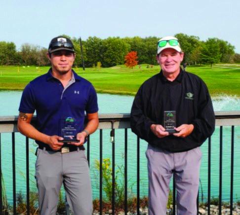 Fifth Flight Club Champion Brandon Schindl (Left) and Runner-Up Bill Simon.