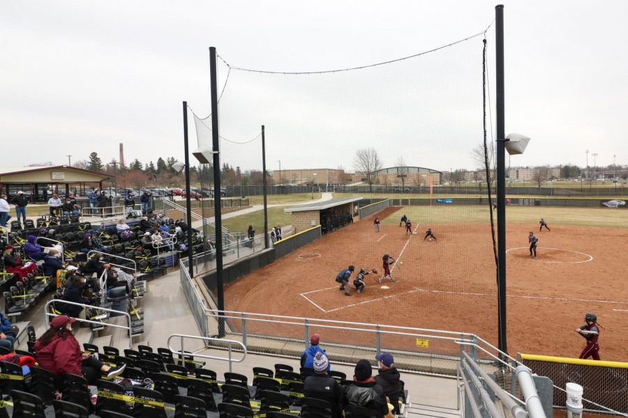 Attendance at van Steenderen softball complex was limited to pre-approved spectators for Saturdays doubleheader between the Warhawks and The University of Chicago.