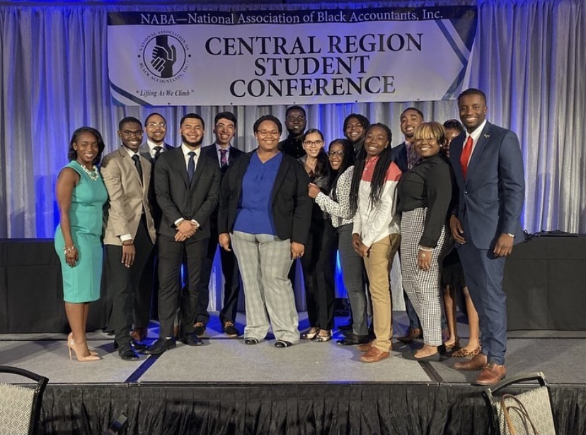 UW-Whiter chapter of NAB attending the National Association of Black Accountants Central Regional National Conference.