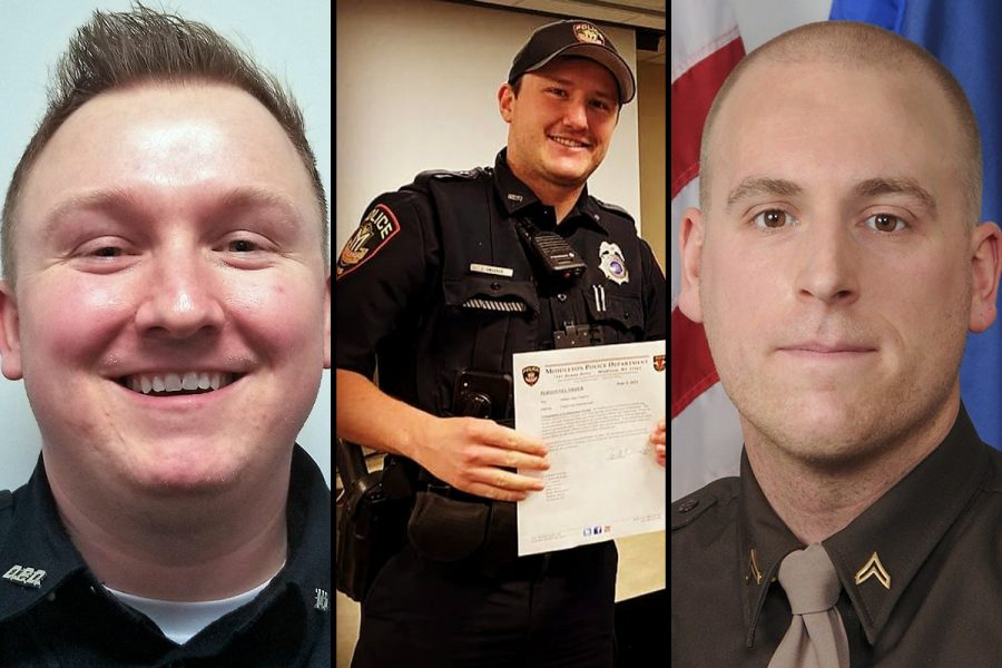 From+left%2C+Officers+Riley+Schmidt%2C+Jacob+Ungerer+and+Ben+Dolnick+are+some+of+the+nearly+200+law+enforcement+officers+currently+employed+in+Wisconsin+who+have+been+fired+from+previous+jobs+in+law+enforcement%2C+resigned+in+lieu+of+termination+or+quit+before+completion+of+an+internal+investigation.+%28Photos+courtesy+of+the+Darlington+Police+Department%2C+Middleton+Police+Department+Facebook+page+and+the+Dane+County+Sheriffs+Office%29