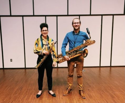 Noa Even and Phil Pierick, a saxophone ensemble, performed for the public on Tuesday, Sept. 28 at 7:30 p.m. at Light Recital Hall.